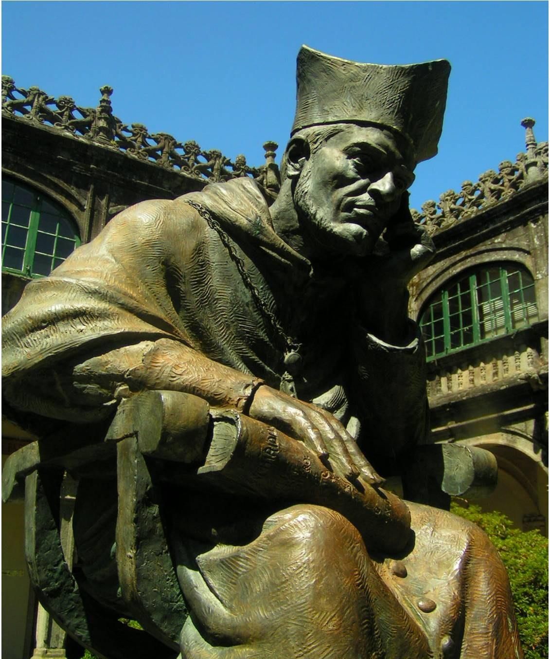 LLBGAL-Escultura de Alonso de Fonseca en el Colegio de Fonseca en el Campus universitario de Santiago de Compostela_375_