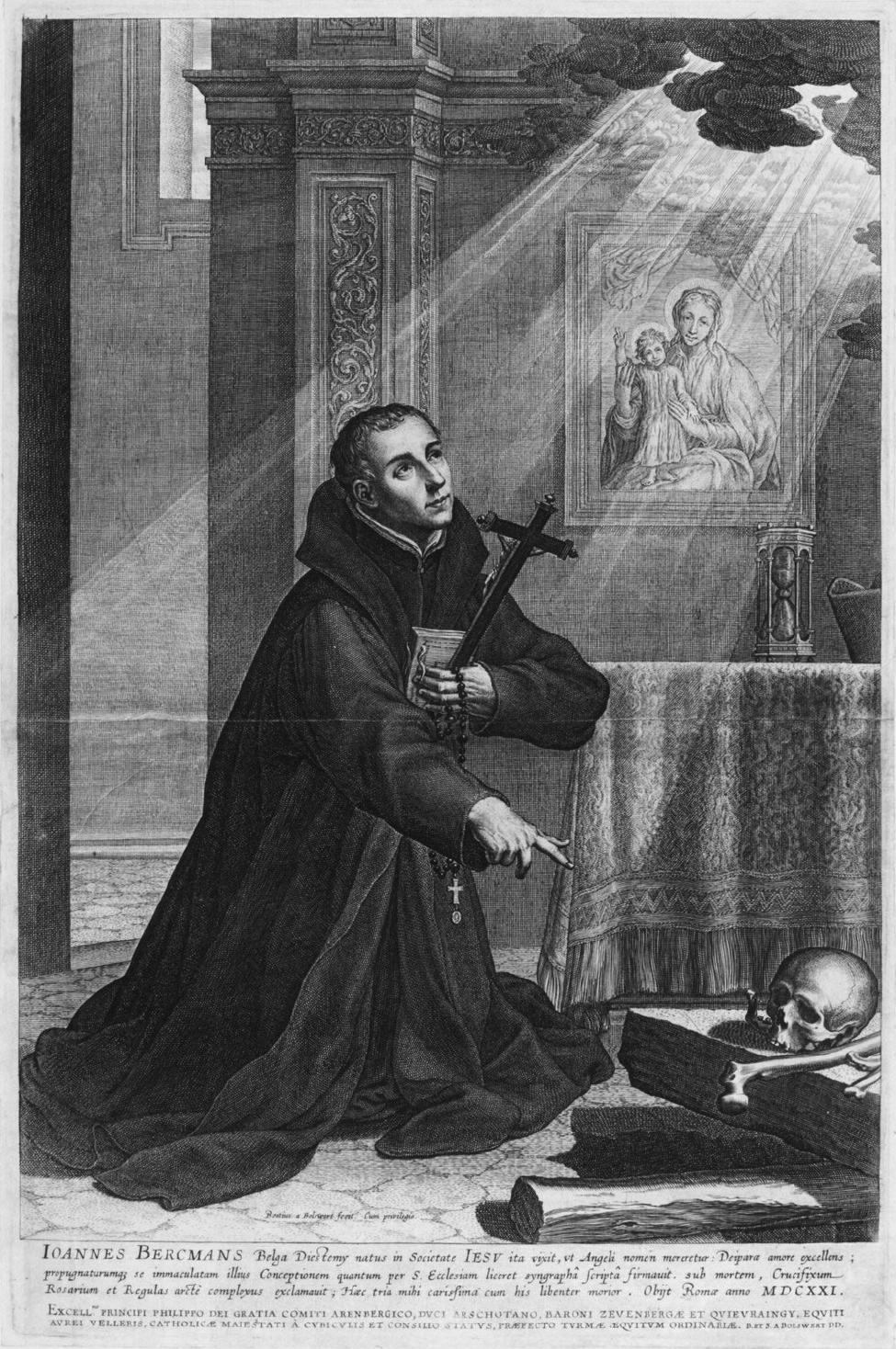Portrait of the Jesuit Jan Berchmans